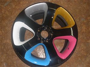 Покраска колес акриловой краской