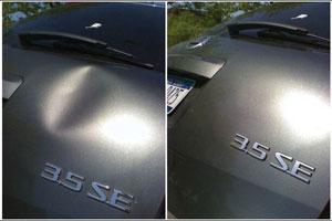 Удаление вмятин на автомобиле без покраски